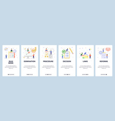 Guide manual book law data business launch vector
