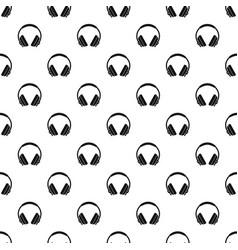 Headphone pattern vector