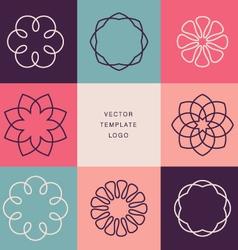 Hipster template logo vector