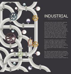 Industrial pipeline concept vector