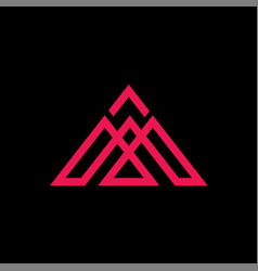 initials m triangle logo abstract vector image
