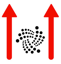 iota send arrows flat icon vector image