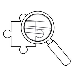 Isolated lupe and puzzle design vector