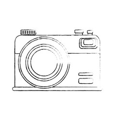 Isolated vintage camera vector