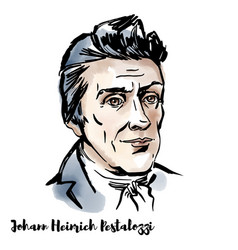 johann heinrich pestalozzi portrait vector image