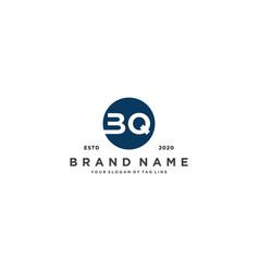 Letter bq logo design vector