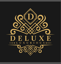Letter d logo - classic luxurious style logo vector