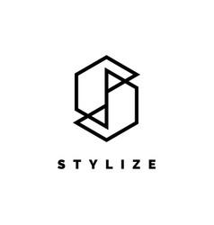 letter s logo design inspiration vector image