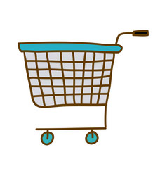 Light colored hand drawn silhouette of supermarket vector