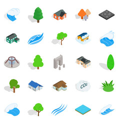 Member icons set isometric style vector