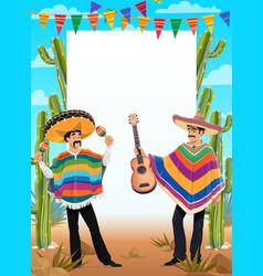 mexican cinco de mayo poster mexico holiday fiesta vector image