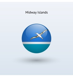 Midway Islands round flag vector