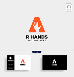 Minimal a letter initial hand logo template icon vector