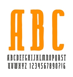 Narrow slab serif font in the style vector