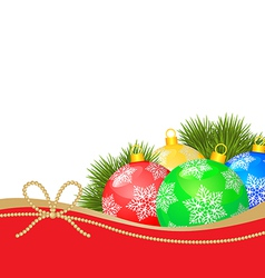 new year balls vector image vector image
