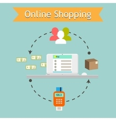 Online shopping Retail services e vector
