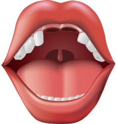 open mouth with missing teeth vector image