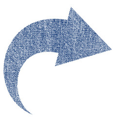Redo fabric textured icon vector