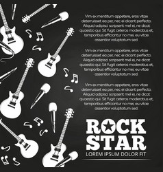 Rock star chalkboard poster design vector