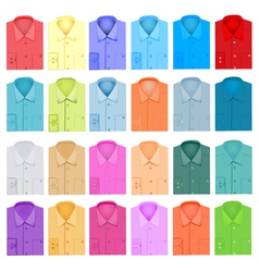 set of plain shirt dress shirt for men vector image