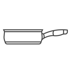 Soup pan icon outline style vector