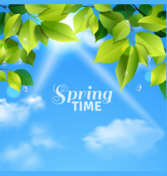 Spring time realistic poster vector