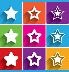 Star icons Rating stars symbols Feedback rating vector image