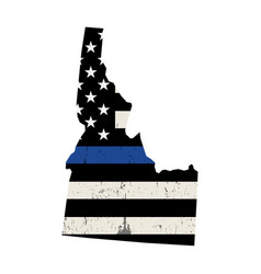 state idaho police support flag vector image