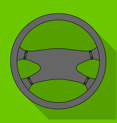 Steering wheelcar single icon in flat style vector