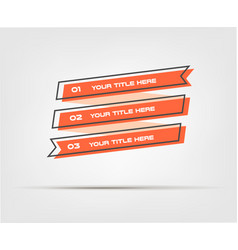 tape cartoon steps infographics with retro colors vector image