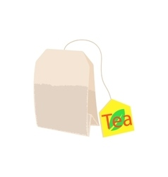 Teabag icon in cartoon style vector image
