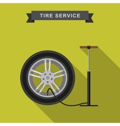 Tire service flat vector