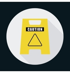 Triangle road sign industrial security safety icon vector