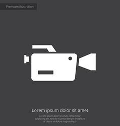 Video camera premium icon vector