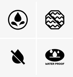 Waterproof symbols vector