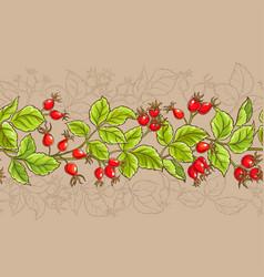 Wild rose pattern vector