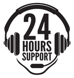 24 hours support2 vector image vector image