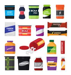 bodybuilding fitness nutrition sport vector image