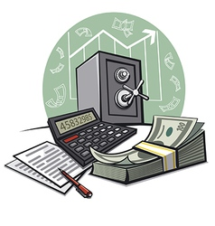 financial accounting vector image