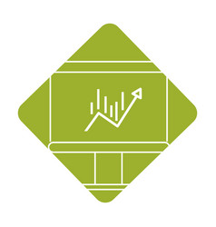label board with statistic arrow up to financial vector image