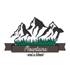 Mounitains color emblem vector image vector image