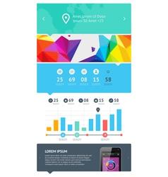 UI web design set vector image