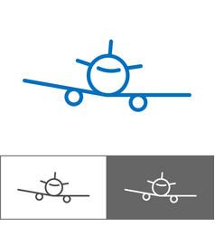 airplane logo template tourist company logotype vector image vector image