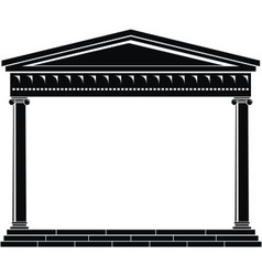 ancient temple vector image vector image