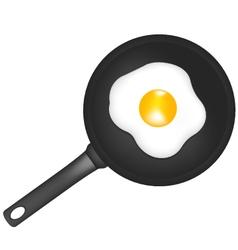 Frying pan egg vector image vector image