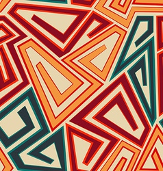 orange color geometric seamless texture vector image