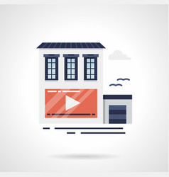 outdoor video advertising flat color icon vector image vector image