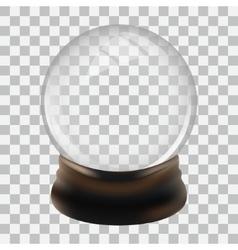 Snow globe template vector image