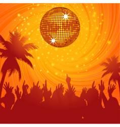 summer disco party vector image