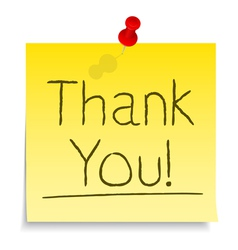 Thank You Post-it Note vector image